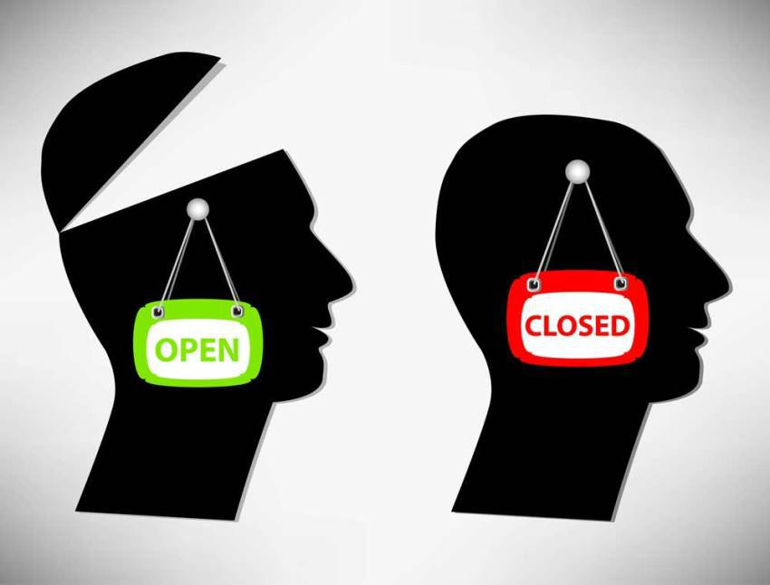 open v closed mind